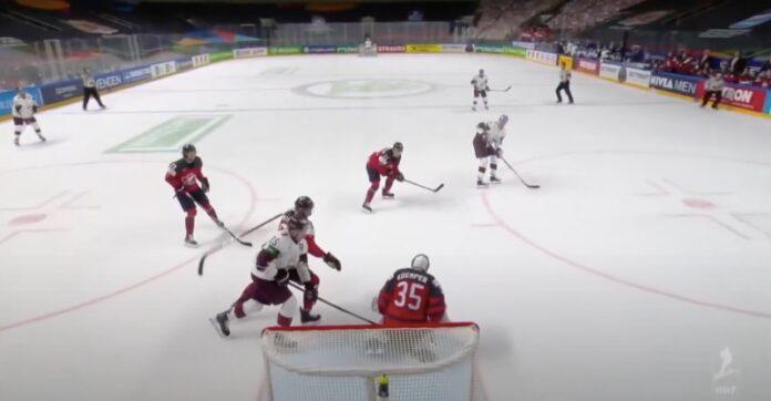 Latvia johtaa Kanadaa kahden erän jälkeen